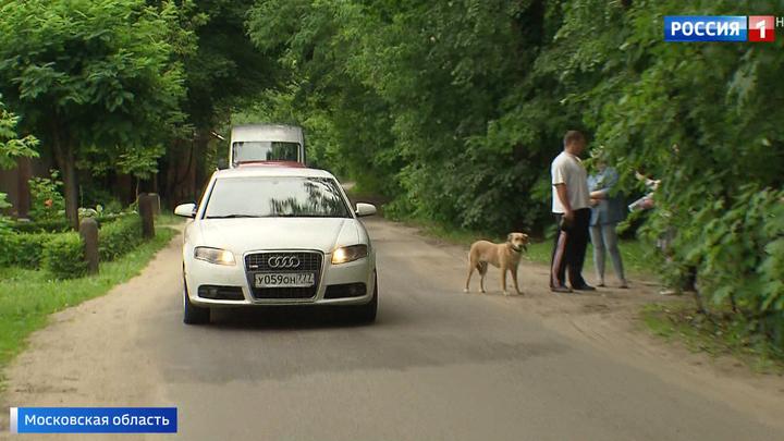 В подмосковной Малаховке опасная дорога осталась без лежачих полицейских