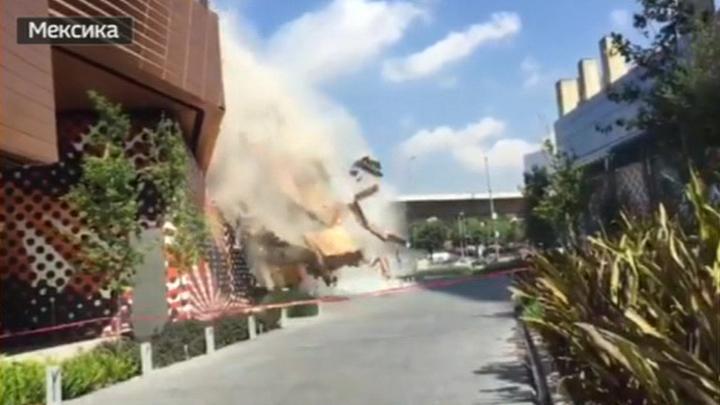 В Мехико обрушилось здание торгового центра