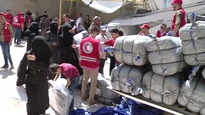 В Сирии надеются, что помощь от Франции - начало глобального гуманитарного процесса