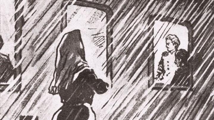 """Иллюстрация к роману """"Воскресение"""". Автор  Ружо В.И."""