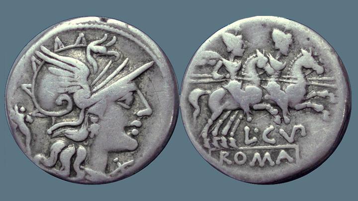 Серебряная римская монета 147 года до н.э., эпоха консульства Сципиона Эмилиана и победы Рима в Третьей Пунической войне. Фото: Ahala / Flickr