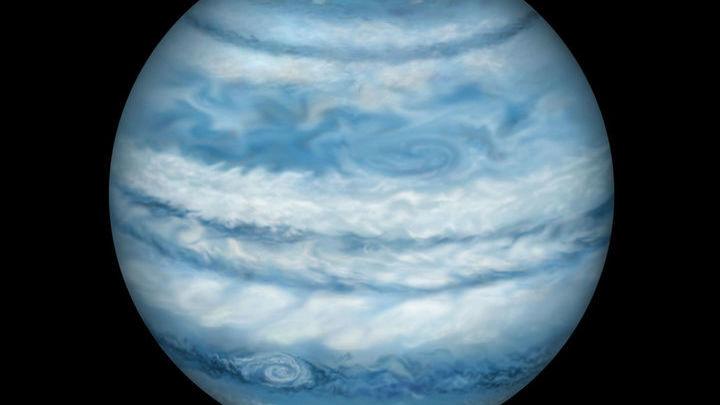 Отдельное изображение Kepler-1647b. Учитывая тот факт, что планета схожа с Юпитером, то и выглядеть она будет подобным образом.