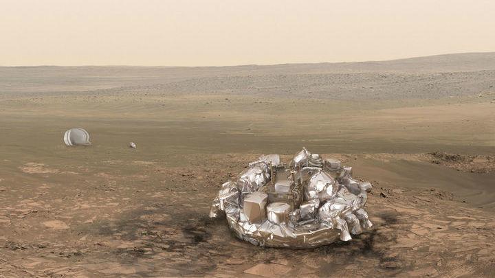 """Ожидается, что 19 октября """"Скиапарелли"""" опустится на поверхность Красной планеты и начнёт свою непродолжительную, но крайне важную для будущих достижений миссию."""