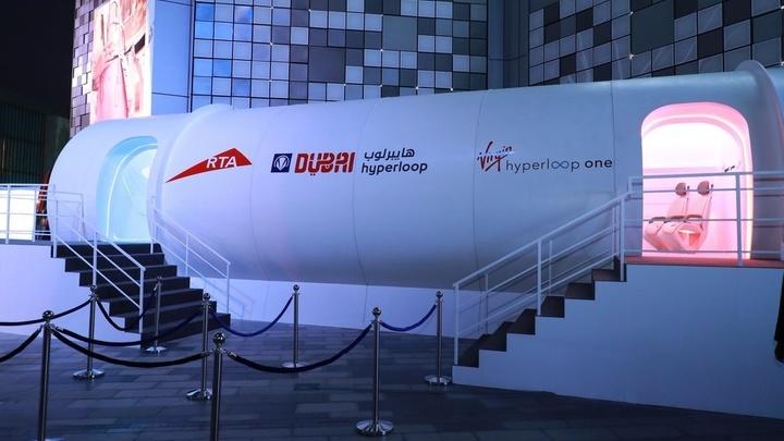 """Первый в мире маршрут """"Гиперпетли"""" будет проложен═между Дубаем и Абу-Даби."""
