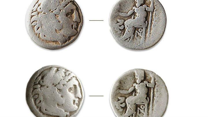Монеты с профилем Александра Македонского, несущего на голове львиный скальп – большая редкость.