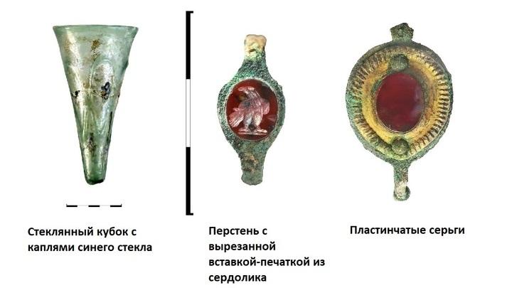 Некоторые из найденных артефактов.