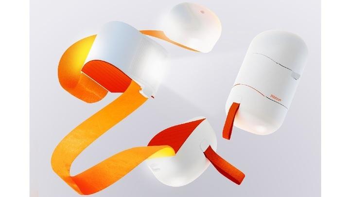 Ribbon представляет собой ленту с датчиками, которая надевается через плечо.