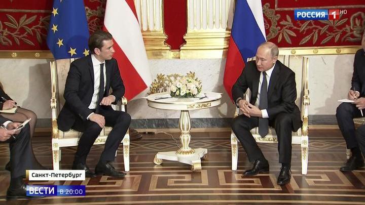 Лидеры России и Австрии открыли выставку в Эрмитаже