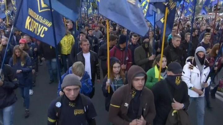 Украинские националисты от души порезвились в центре Киева