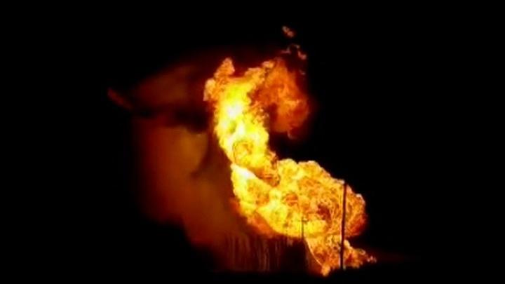 Гигантский столб пламени: под Рязанью прорвало газопровод