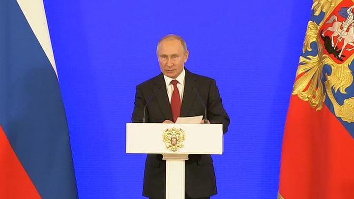 Путин рассказал о служении Отечеству и вручил госнаграды