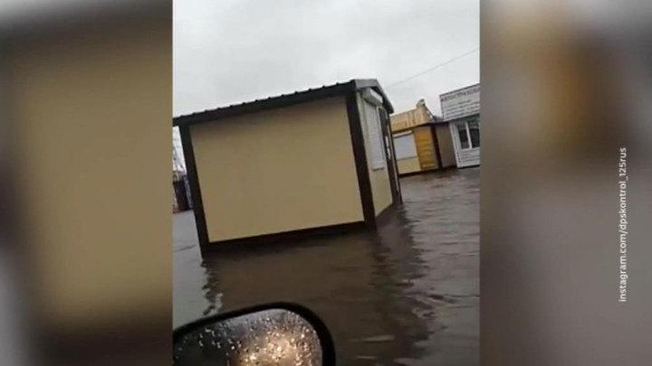 В Приморье ливни заливают города