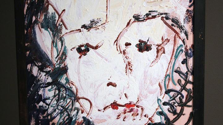 Портрет А.И.Солженицына работы Анатолия Зверева из серии «Великие люди», 1970-е годы..