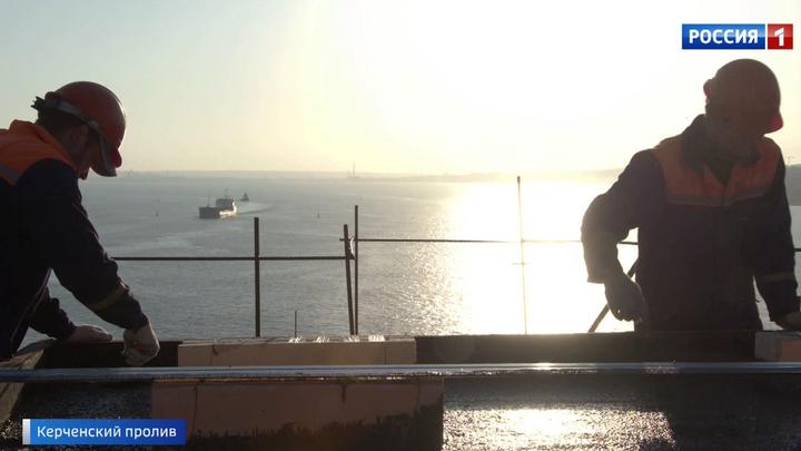 Строительство железнодорожной части Крымского моста вышло на финишную прямую