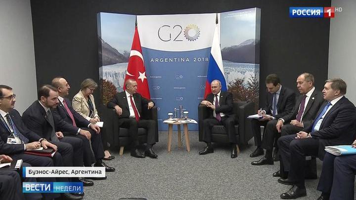 Вместо Трампа Путин встретился с Эрдоганом