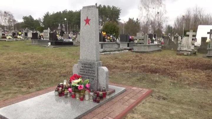В польском поселке восстановили памятник советским военнопленным