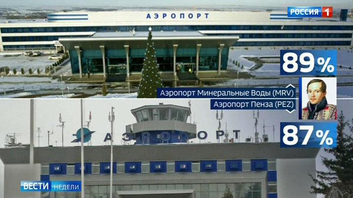 Российским аэропортам подобрали громкие и узнаваемые имена