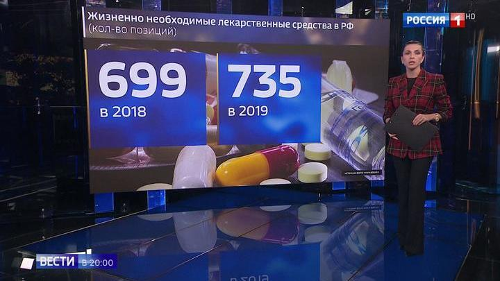 В России расширили список жизненно важных лекарств