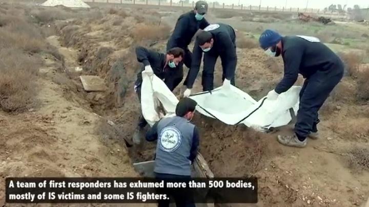В Сирии обнаружены захоронения жертв бомбардировок международной коалиции