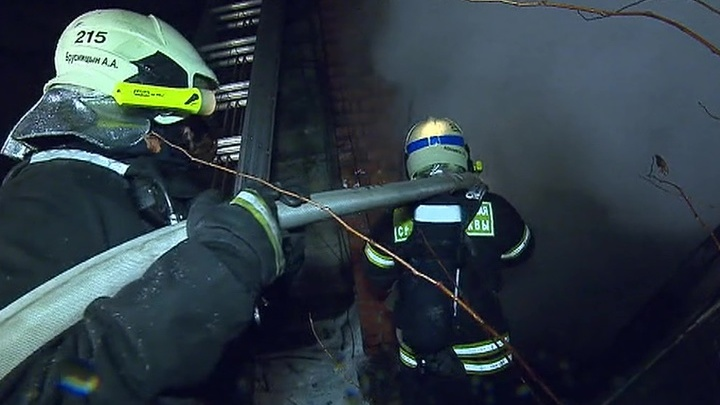 Пожарные ликвидировали возгорание на юге Москвы
