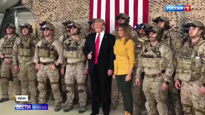 Трамп впервые оказался на войне и не на шутку испугался