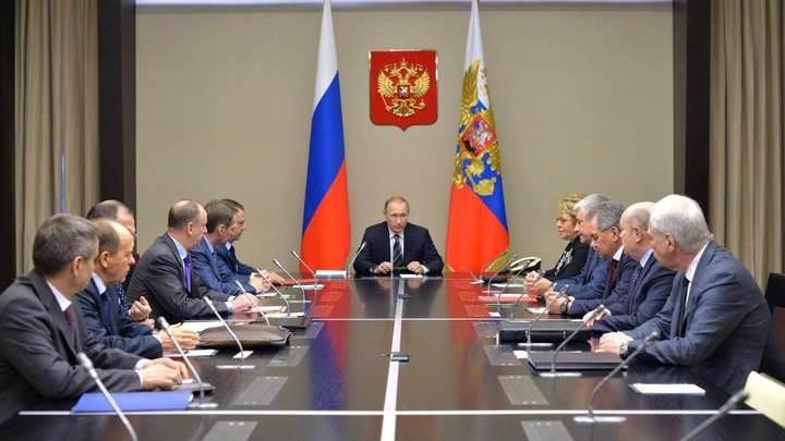 Путин обсудил ряд вопросов в постоянными членами Совбеза
