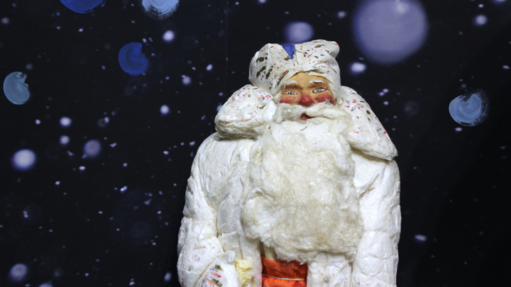 Дед Мороз из коллекции Л.Петриковой, 1950-й год.  Фото Леонида Варебруса