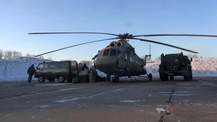Военные разворачивают лагерь около Бурейского водохранилища