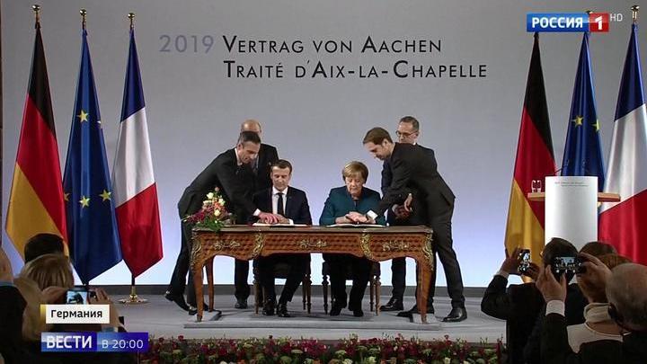 Ахенский договор: интриги между Меркель и Макроном