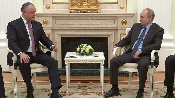 Владимир Путин встретился с президентом Молдавии Игорем Додоном