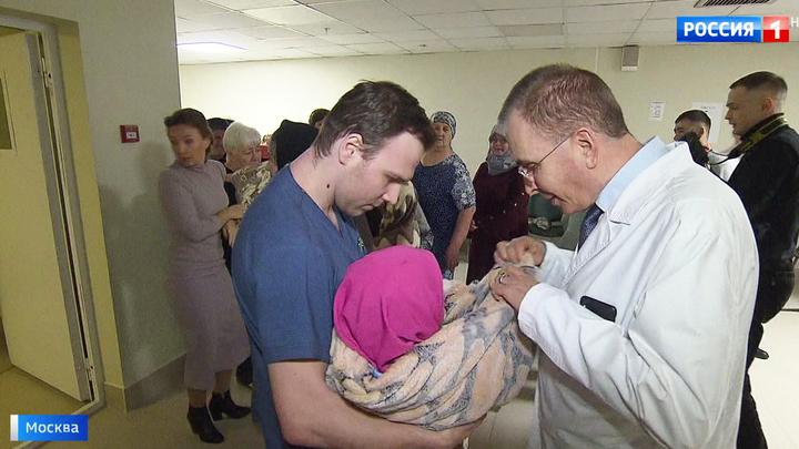 В Москве встретили детей, оказавшихся в иракской тюрьме из-за отцов-боевиков
