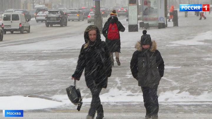 На Москву идет мощный снегопад