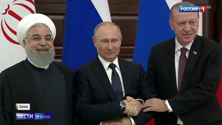 Россия, Турция и Иран считают, что Сирию должно контролировать законное правительство