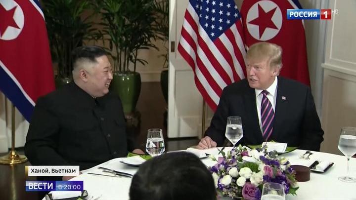 Ужин на двоих: чем завершился первый день переговоров Трампа и Ким Чен Ына