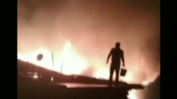 Пожар в дагестанском селе удалось локализовать