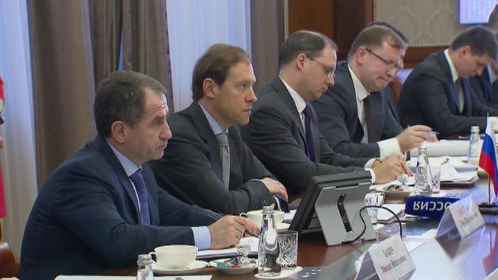 Денис Мантуров провел рабочую встречу с коллегами из Белоруссии
