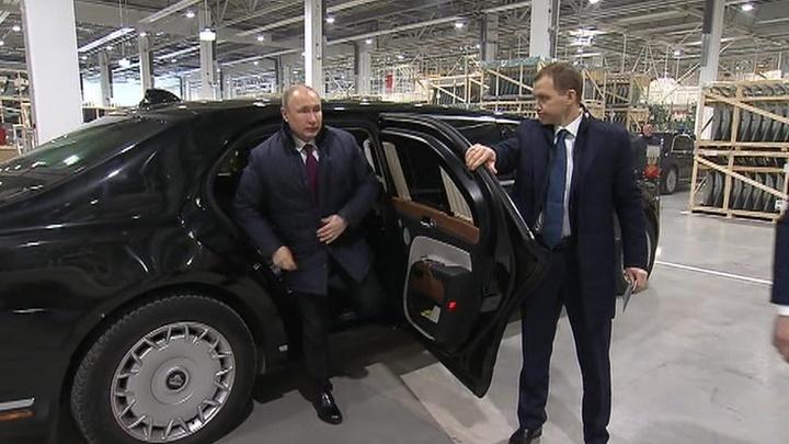 Путин приехал на Мерседес на своем Аурусе