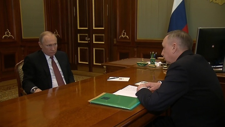 Врио Петербурга отчитался о развитии социальной инфраструктуры перед президентом