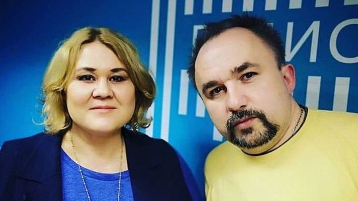 """В студии """"Радио России"""" -  Ольга Максимова и Дмитрий Чернов"""