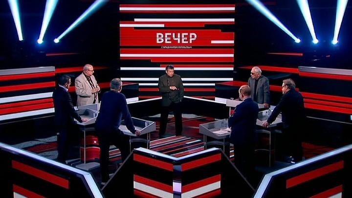 Вечер с Владимиром Соловьевым. Эфир от 19 апреля 2019 года