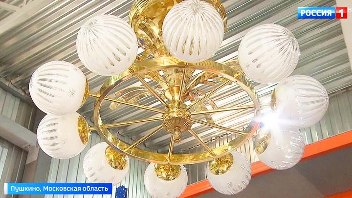 Реставрация Северного речного вокзала: мастера воссоздадут исторические светильники