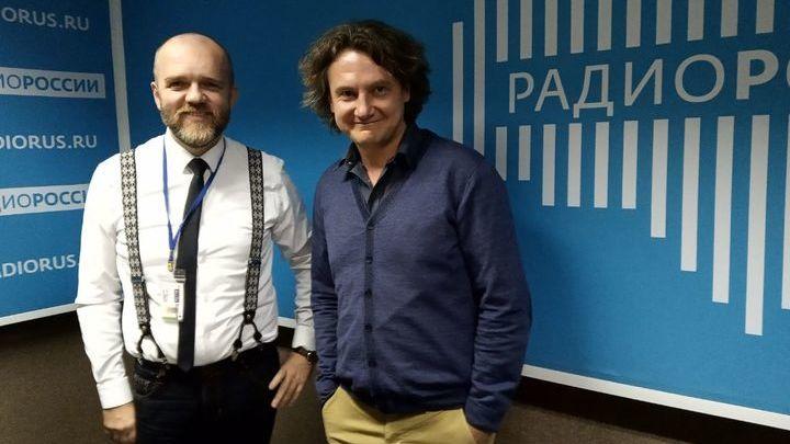 """Дмитрий Конаныхин и Павел Волчков в студии """"Радио России"""""""