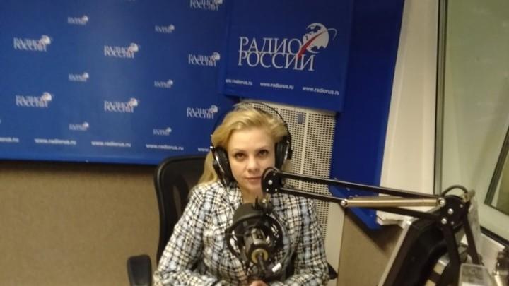 """Юлия Чехонина в студии """"Радио России"""""""