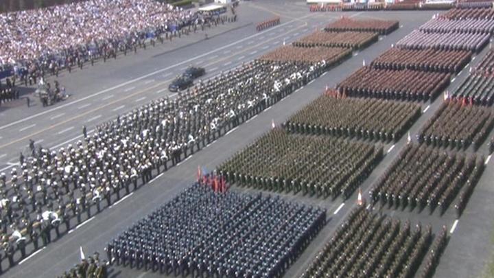 На Красной площади в Москве прошла генеральная репетиция парада Победы