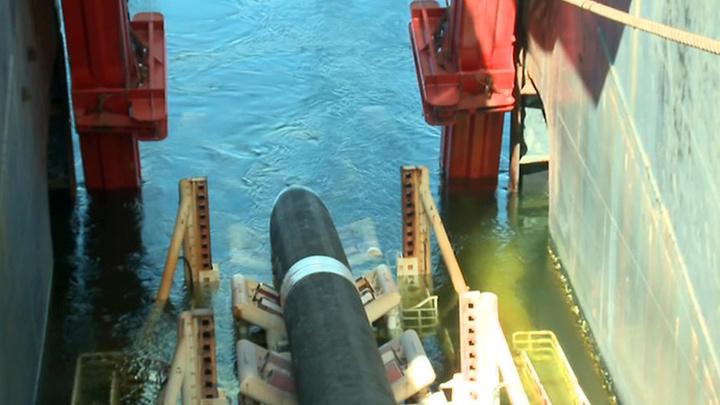 """Прокладка труб: """"Северный поток-2"""" наполовину готов"""