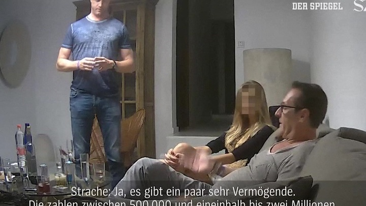 Тайная видеозапись разрушила правящую коалицию Австрии