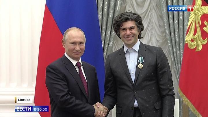 Путин вручил в Кремле госнаграды выдающимся россиянам и иностранным гражданам
