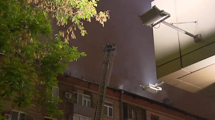 Крупный пожар на юге Москвы ликвидирован