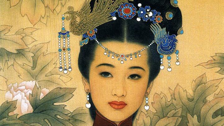 Мастера традиционной китайской живописи по шелку Zhao Guojing и его ученицы Wang Meifang /liveinternet.ru/