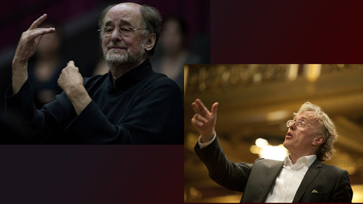Роджер Норрингтон и Мартин Хазельбёк, /Фото avxhm.se и cndm.mcu.es/